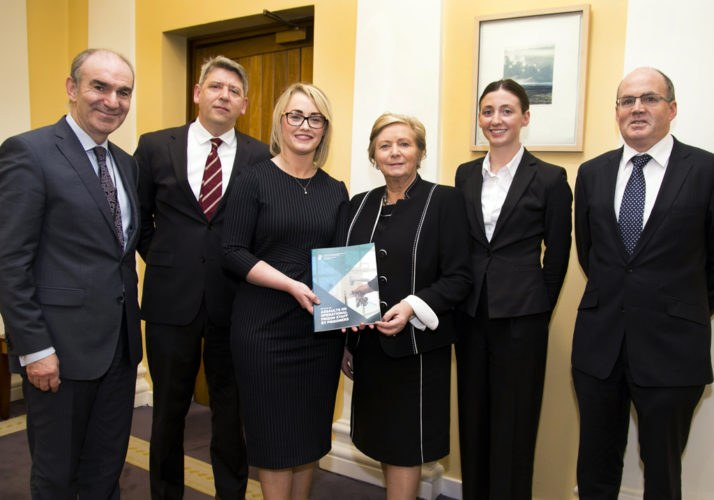 The SCA Review Group with Tánaiste Frances Fitzgerald.