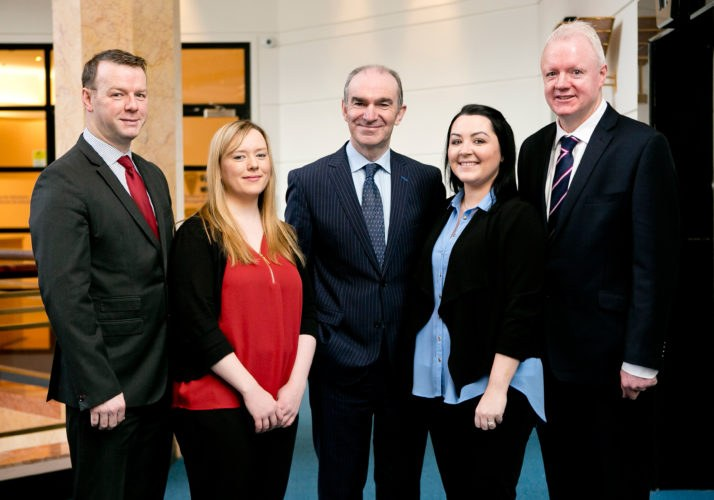 In photo from left to right: David Dunning (Senior Legal Costs Accountant, SCA), Anna Giles (Trainee Legal Costs Accountant, SCA), Ciarán Breen (Director, SCA), Evelyn Higgins (Adminstrator, SCA), David Mack (Head of Legal Costs). Absent from photo: Marie Hutton (Senior Costs Solicitor, SCA).