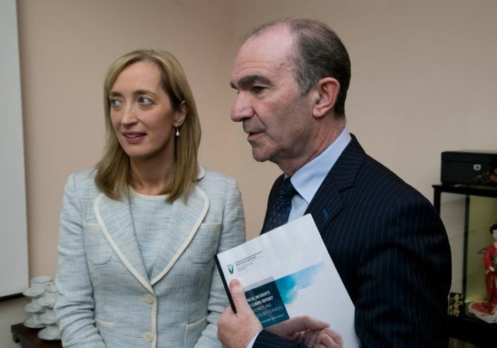 In photo from left to right: Dr. Dubhfeasa Slattery (Head of Clinical Risk, SCA), Ciarán Breen (Director, SCA)