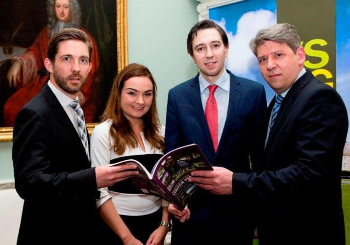 In photo from left to right: Karl Fox (Enterprise Risk Manager, SCA), Fiona Kearns (Senior Enterprise Risk Manager, SCA), Minister Simon Harris, Pat Kirwan (Deputy Director, SCA)
