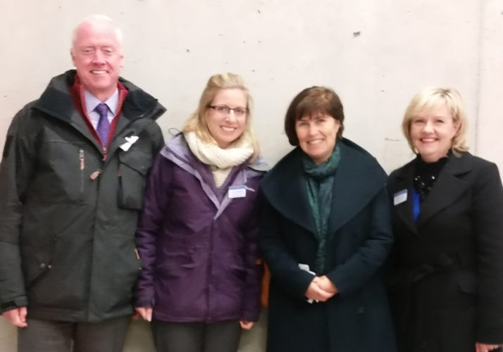 In photo from left to right: Liam Walsh, Assistant Principal Officer, DAFM; Louise Gilligan, Enterprise Risk Manager, SCA; Anne Derwin, Assistant Secretary General, DAFM; Helen Gahan, Higher Executive Officer, DAFM