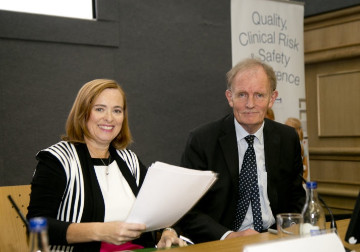 Hardiman, Group CEO of the Children's Hospital Group and Prof. John Murphy, National Clinical Lead in Neonatology at the recent Quality, Clinical Risk and Safety Conference at Dublin Castle.