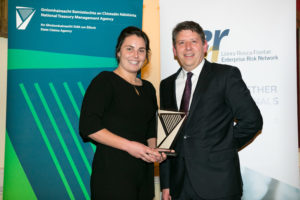 Katie O'Dwyer, Investigations Officer, Oberstown Children Detention Campus, with Pat Kirwan, Deputy Director of the SCA